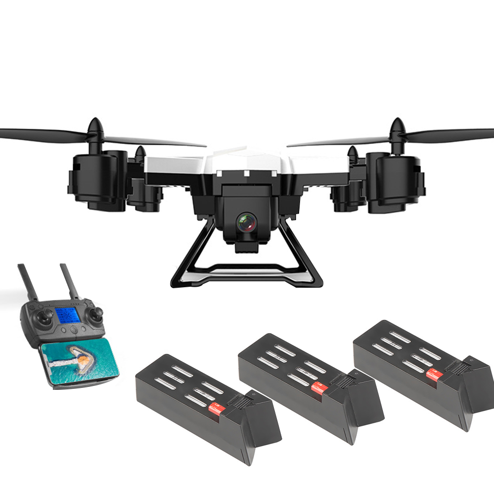 KY601G ABS Intelligent Foldable Photography USB Charging 4K HD Drone WIFI Dual GPS Aerial View Remote Control FPV 4 Channels