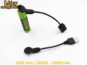 Image 4 - Laptop Batterij 18650 3.7V 3500Mah 5000M Usb Li Ion Oplaadbare Batterij 4 Led Indicator Power Bank Batterij Mobiele opladen Batte
