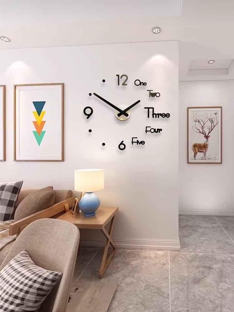 DIY Big Wall Clock Modern