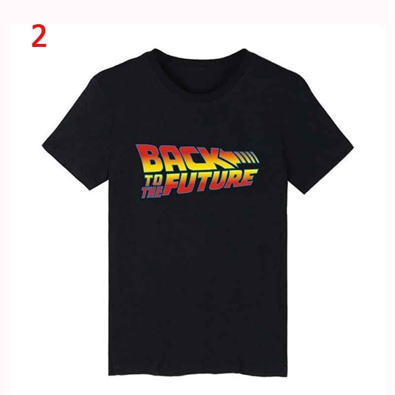 Geri gelecek Tshirt ışık T Shirt camiseta yaz kısa kollu T Shirt geleceğe geri Tee üstleri Streetwear t-shirt 4XL