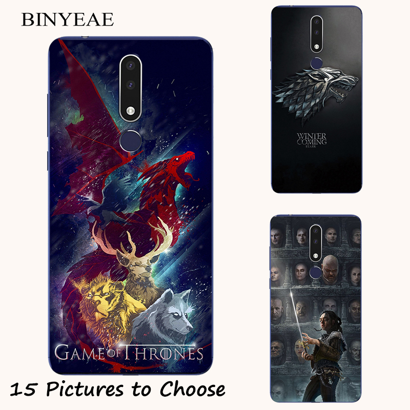 Game Of Throne Stark Silicone Painting Case For Nokia 2.1 7.1 8.1 2.2 3.2 4.2 3.1 5.1 6.1 1 7 Plus 6 2018 Phone silicone Cover