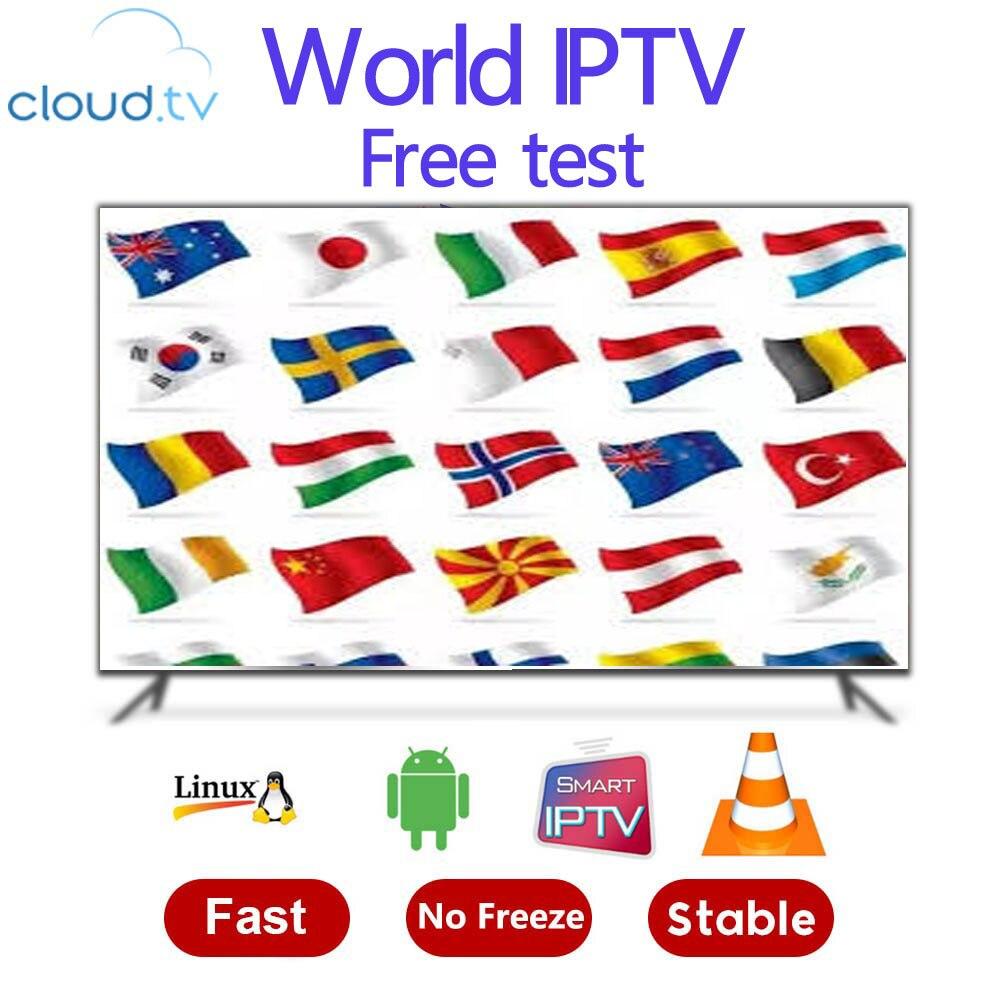 Darmowy test 8000 + Live 13000 + VOD World Global IPTV niemcy UK USA kanada francuska subskrypcja łacińska dla M3U Mag android smart tv