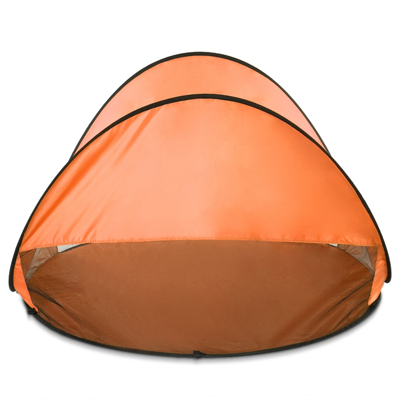 Orange Outdoor Camping Zelte Instant Up Zelt Baby Strand Zelt Cabana Tragbare Anti Uv Sun Shelter Für Camping Angeln Wandern