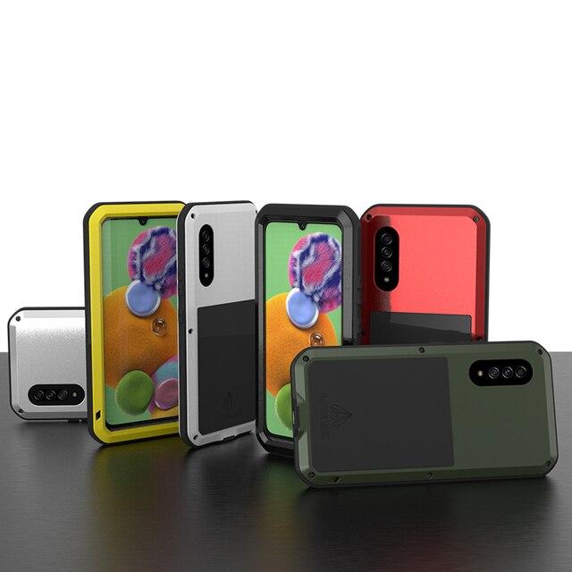 Coque de protection complète antichoc 360 ° pour Samsung Galaxy A51 A71 A50 A70S A90 5G A40S A30S, protection antichoc en aluminium