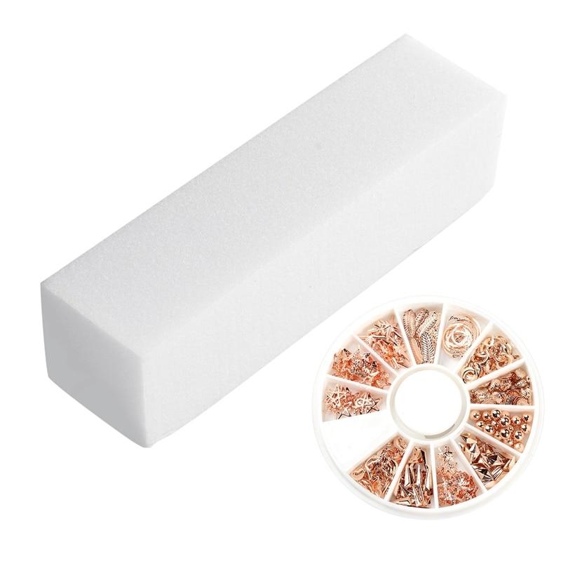12 pecas de polimento envio buffer arquivos bloco espuma pedicure manicure arte do prego 1