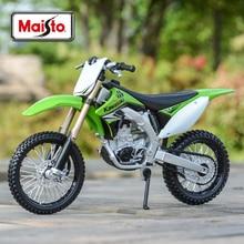 Коллекционные модели мотоциклов Maisto 1:12 Kawasaki KX 450F, зеленые литые автомобили, хобби