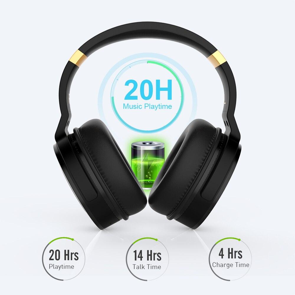 COWIN E8A, 20 часов, музыкальные Hi Fi наушники, ANC, шумоподавление, беспроводная Bluetooth гарнитура, Накладные наушники для компьютера, путешествий, кр... - 4