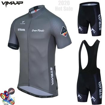 2021 nova strava verão conjunto camisa de ciclismo respirável equipe corrida esporte bicicleta jérsei dos homens roupas ciclismo curto camisa 1