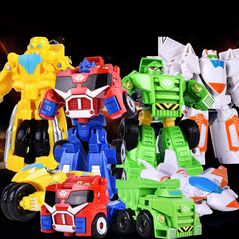 Горячая распродажа! Автомобиль-трансформер 12 см, робот-трансформер, экшн-фигурки, игрушки для детей, Детский подарок