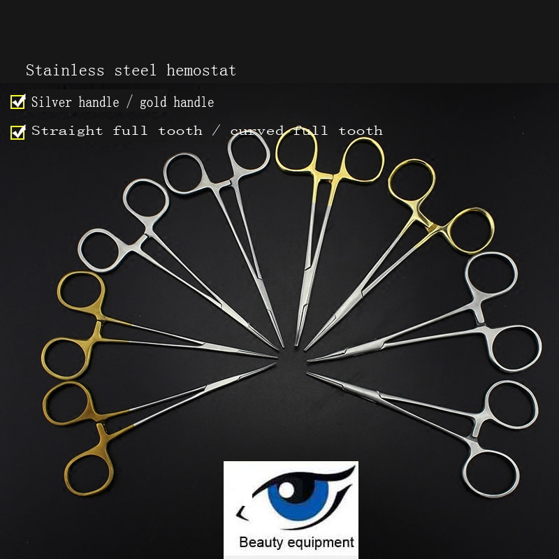 Medical Hemostats Stainless Steel Surgical Instruments Straight Elbow Vascular Clamp Fine Microvascular Hemostatic Forceps