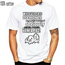Camiseta masculina t shirt quem disse que diamantes são uma menina melhor amigo obviamente nunca possuiu cobaias