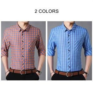 Image 4 - Camiseta de marca COODRONY para hombre, camisas casuales de calle, Camisa de algodón de manga larga de otoño, Camisa Masculina a cuadros con bolsillo 96092