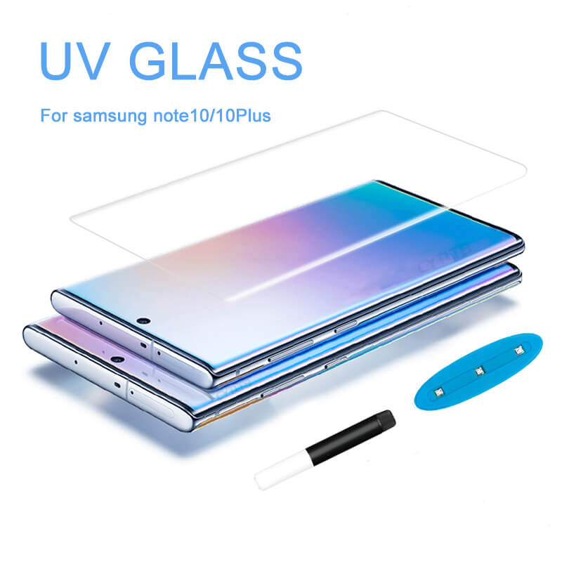 For Samsung Galaxy Note 10 Plus Screen Protector Uv Nano Optics Curved Glass Full Glue Covered Edge For Galaxy Note 10 10 Plus