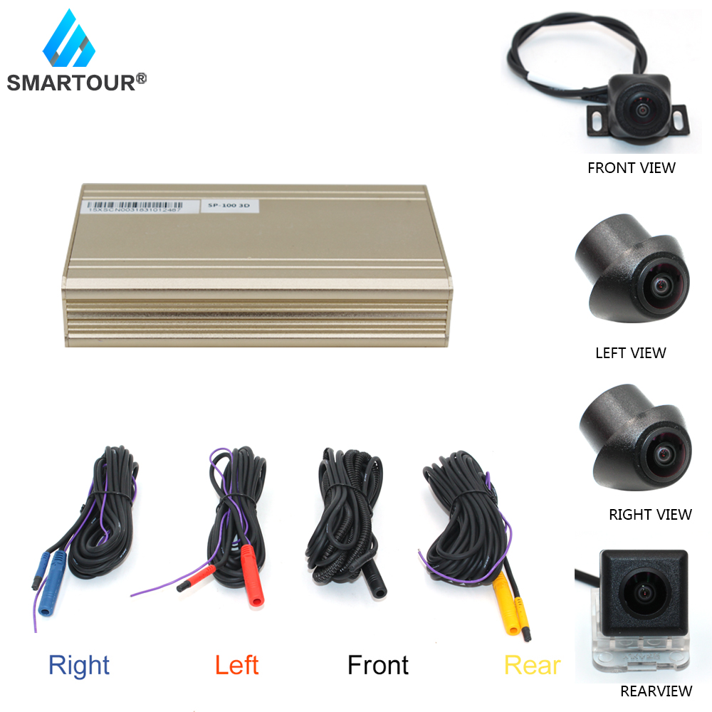 Smartour 3D HD 360 Car Surround View Monitoring System , Bird View System, 4 Camera DVR HD 1080P Recorder / Parking Monitoring