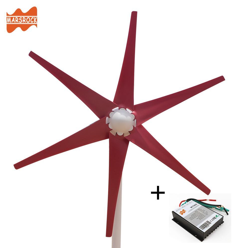Frete Grátis AC12V/24 V Colorido Vento Gerador de Turbina do Moinho De Vento Pequeno para Casa ou uso de Barco com Frete 600 controlador de Vento W