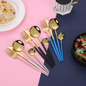 36 Pieces of Stainless Steel Portugal Cutlery Knife, Fork and Spoon Suit European Hotel Western Steak Knife and Fork Spoon