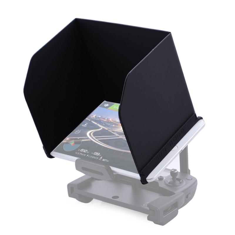 Tablet telefone pára-sol para dji mavic pro ar faísca fantasma 4 3 mavic 2 zoom drone controllerfolding capa sombra de sol 4.7 5.5 7.9
