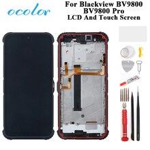Ocolor עבור Blackview BV9800 BV9800 פרו תצוגת LCD ומסך מגע Digitizer עצרת עם מסגרת + כלים + דבק