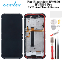 ocolor For Blackview BV9800 BV9800 Pro LCD Display And Touch Screen Digitizer Assembly Replacement With Frame + Tools +Glue