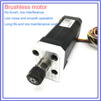 100W Brushless spindle ER11 45Ncm DC 42mm motor Collets Match MACH3 for CNC drilling milling Carving Metal plastic wood working