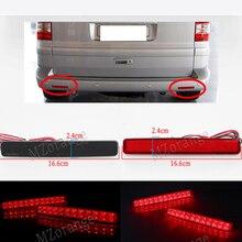 2pcs Tail Stop Brake Light for VW T5 Transporter / Caravelle / Multivan 2003-11 Red black Rear Bumper Reflector LED (CA243) Car