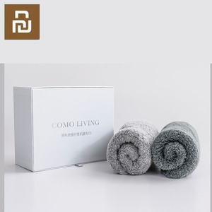 Image 5 - Toalla antibacteriana Youpin COMO LIVING de fibra negra y plateada suave y cómoda toalla absorbente y duradera de 32x76cm