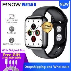 Finow IWO W26 Smart Watch 6 Men/Women ECG Bluetooth Call 44mm 1.75 inch IPS screen IP68 IWO 12 Pro Smartwatch 2020 New