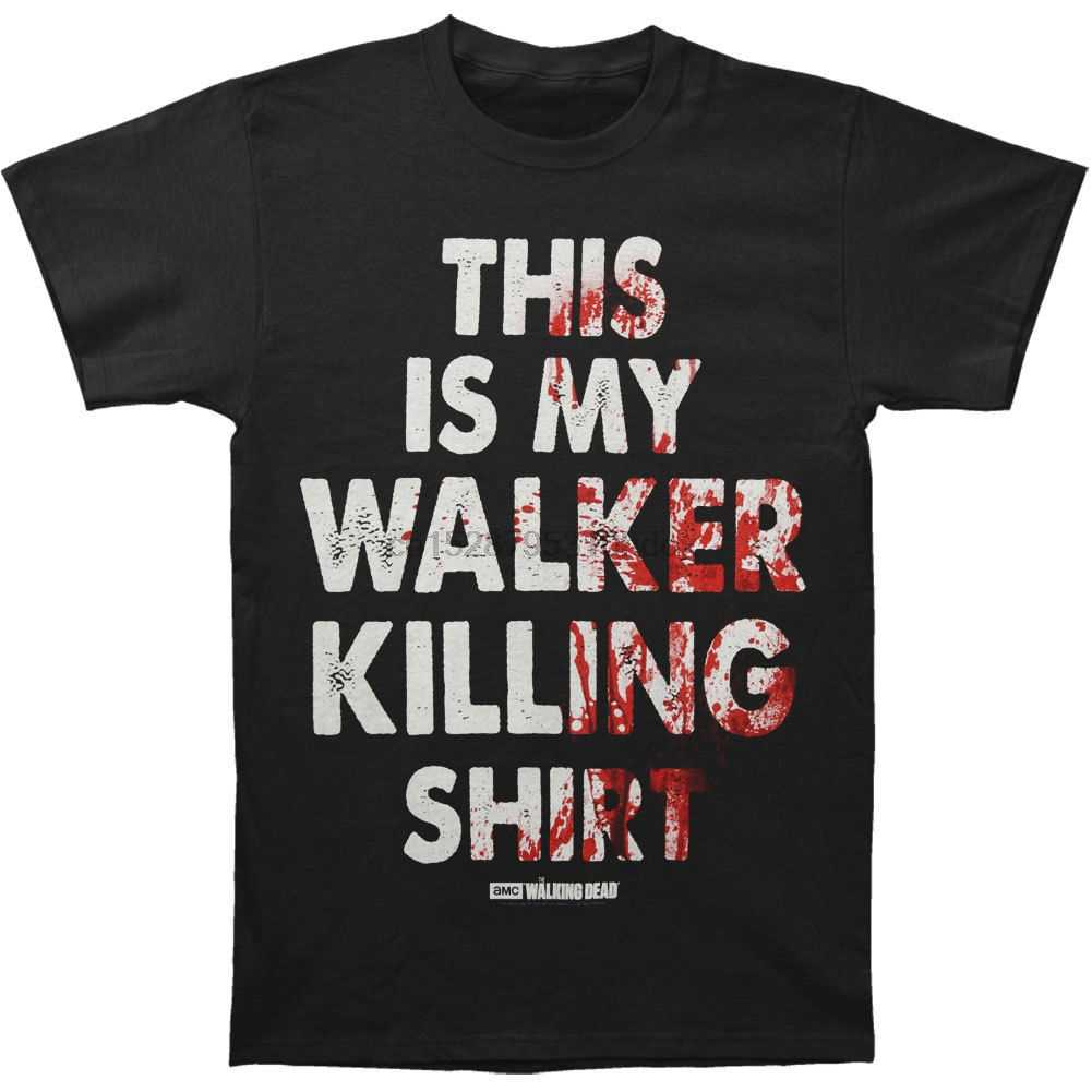Camiseta negra de Walking Dead Men