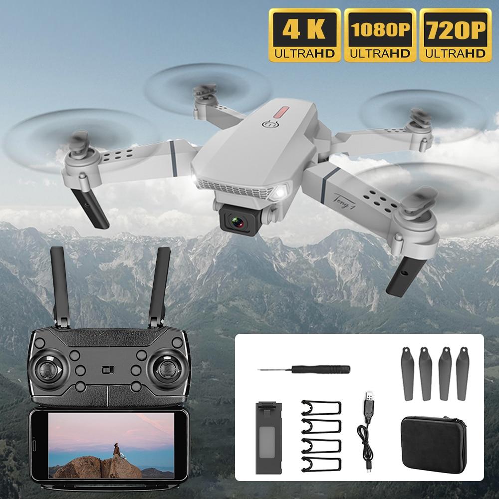2020 novo zangão de e88pro 4k hd com câmera dupla zangão wifi 1080p em tempo real de transmissão fpv zangão siga-me rc quadcopter