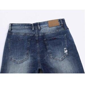 Image 4 - KSTUN Jeans Männer Stretch Sommer Blau Business Casual Dünne Gerade Jeans Mode Jeans Männliche Hose Regular Fit Große Größe
