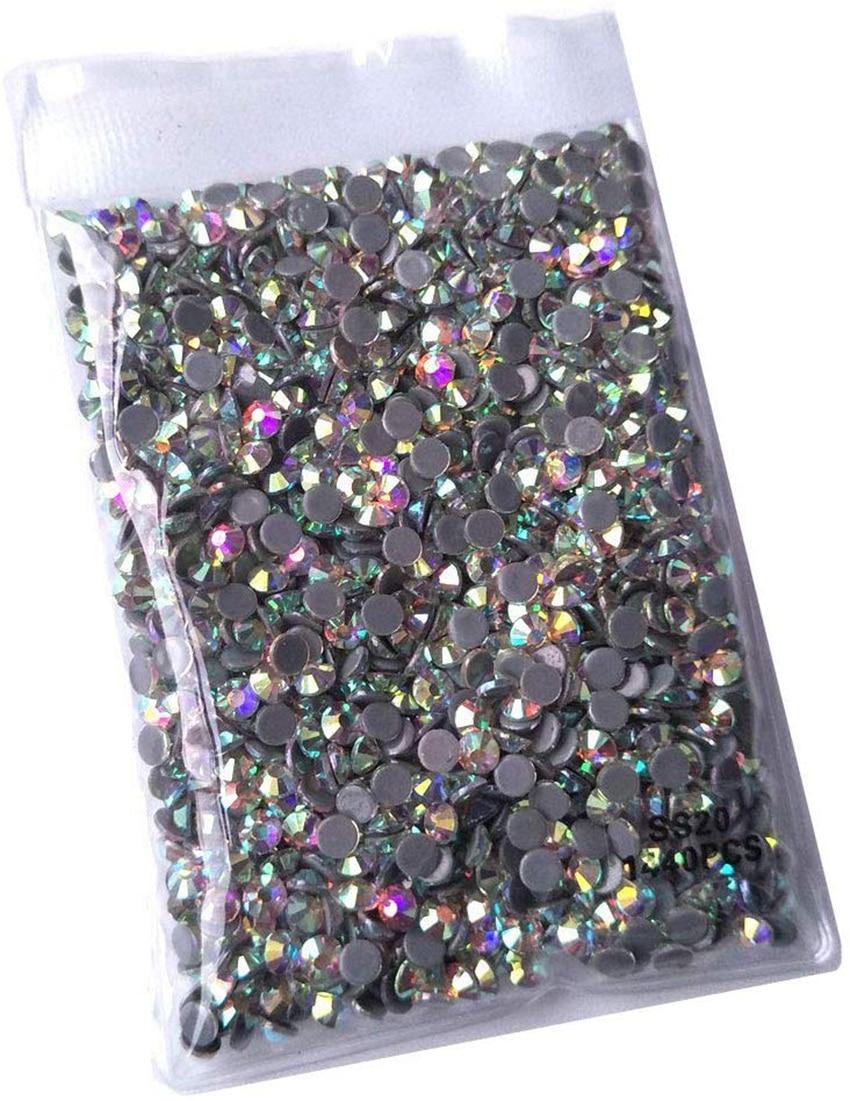 High Quality Crystal AB Hotfix Rhinestone FlatBack 16 Cut Facets Hot Fix Rhinestones Wedding Decoration