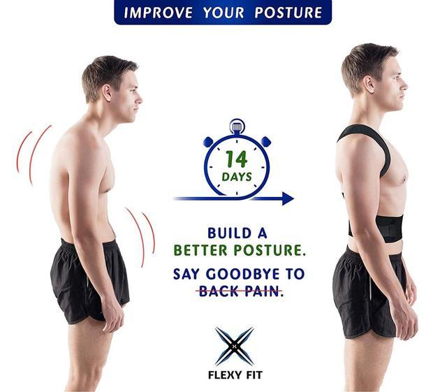 Aptoco Magnetic Therapy Posture Corrector Brace Shoulder Back Support Belt for Men Women Braces & Supports Belt Shoulder Posture 2