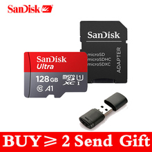 Карта памяти Micro SD SanDisk, карта памяти 16 ГБ 32 ГБ 64 Гб 128 Гб MicroSD Max 80 м/с Uitra C10 TF карта C4 8G