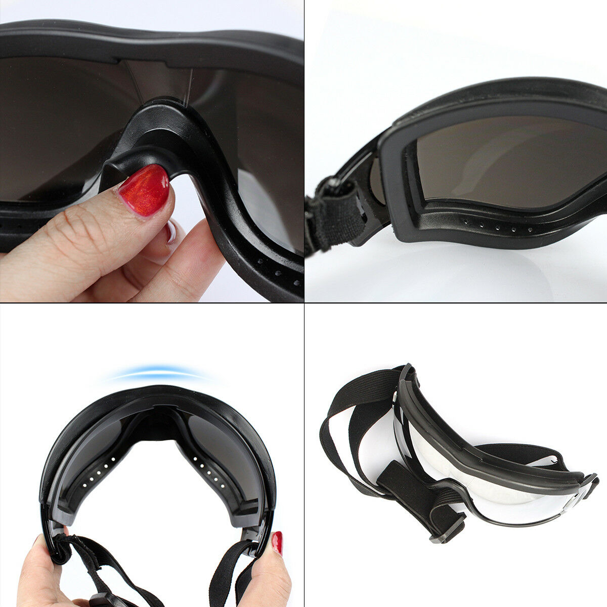 2020 HOT Adjustable Pet Dog Goggles Sunglasses Anti-UV Sun Glasses Eye Wear Protection Waterproof Sunglasses Pet Dog Supplies 13