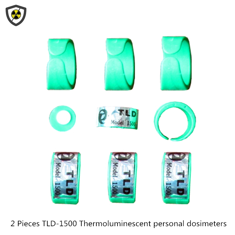 2 pieces TLD-1500 thermoluminescent Ring type dosimeters Radiopharmaceutical injection, nuclear medicine use radiation dosimeter