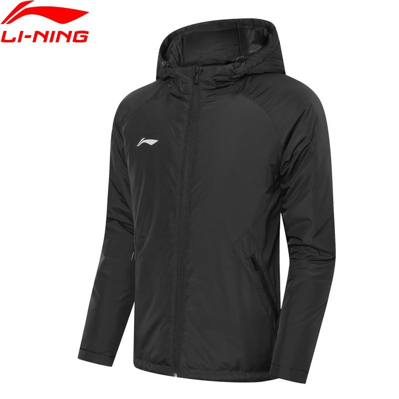 Li-Ning Men Soccer Series Short Padded Coat Winter Warm LiNing Li Ning Hooded Sports Cotton Jackets AJMP007 MWM1920
