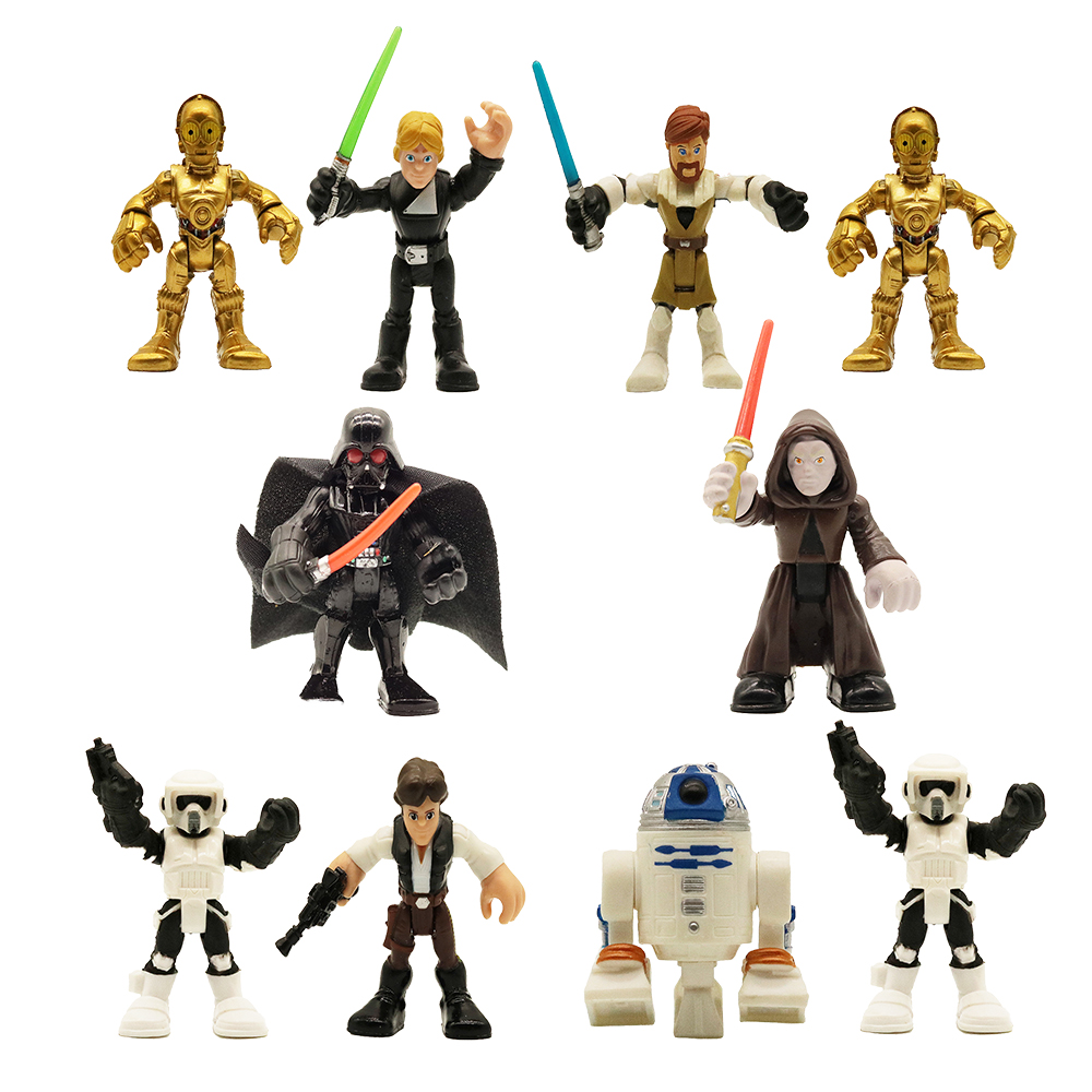 4 pc Set Star Wars Cake Toppers Action Figures PVC Collection C3PO Darth Maul