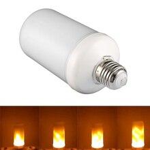 E27 Светодиодный светильник с эффектом пламени, 7 Вт, AC85-265V, мерцающий светильник, лампа с эффектом пламени для комнатной декоративной атмосферы, светодиодный светильник