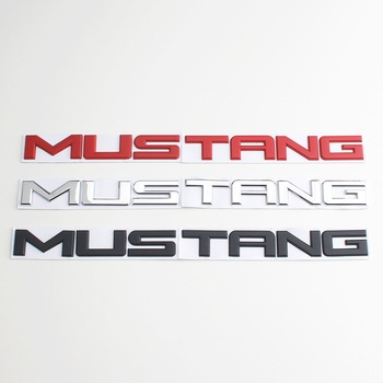 1 PCS 3D Metal Mustang Letters Emblem Pony Horse Front Badge Car Sticker For Ford 2015-2020 styling accessories - discount item  10% OFF Exterior Accessories