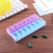 14/7 grades 7 dias semanal pílula caso medicina tablet dispensador organizador caixa de comprimidos divisores pílula armazenamento organizador recipiente