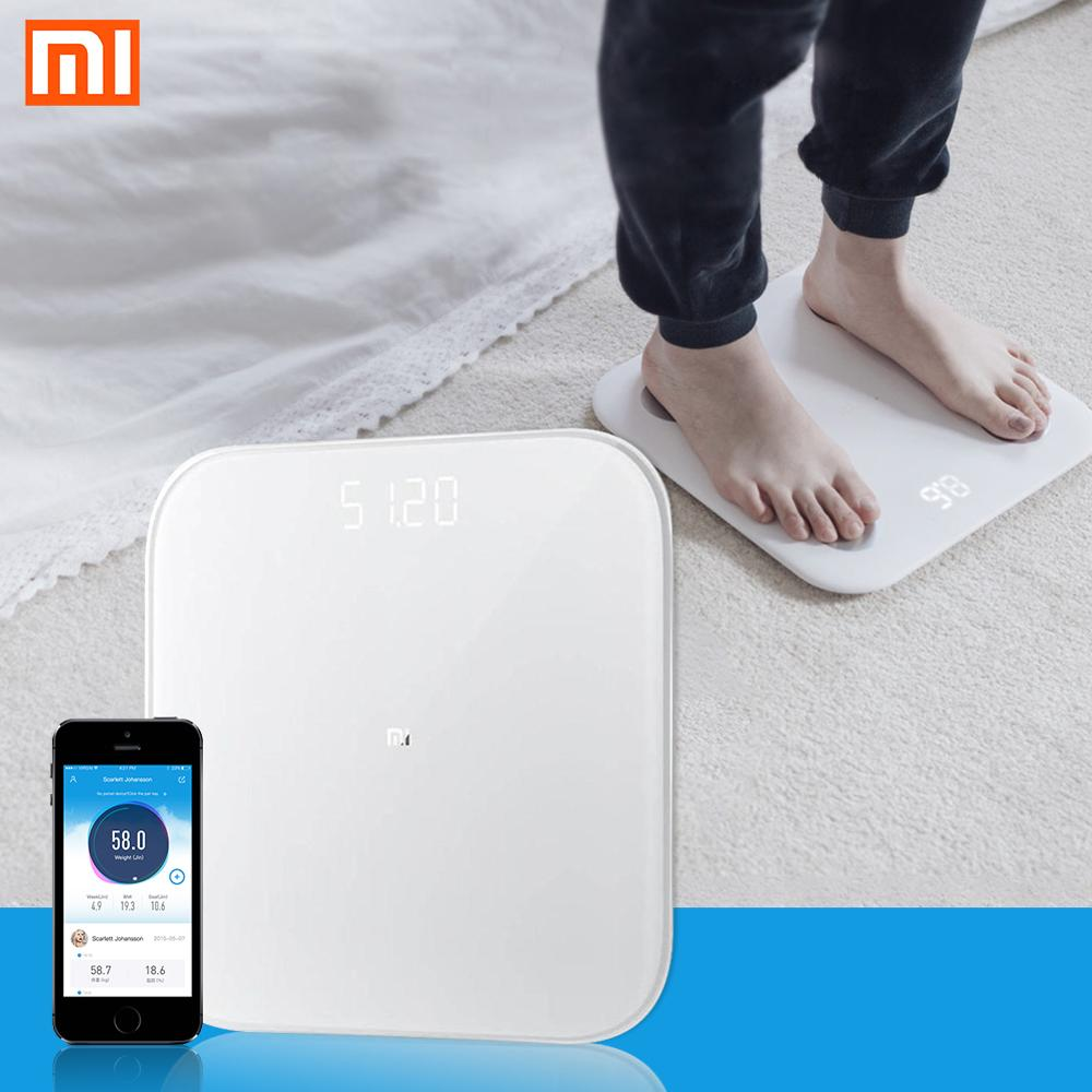 Xiaomi Smart-Weighing-Scale Mifit Bluetooth 2 Digital Led-Display App-Control Precision title=