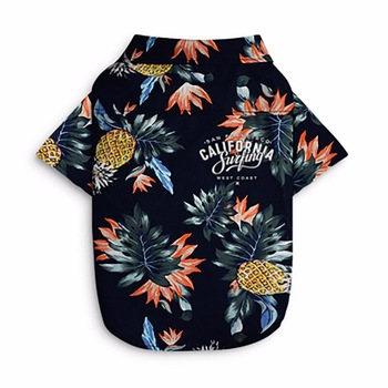 Summer Pet Printed Clothes For Dogs Floral Beach Shirt Jackets Dog Coat Puppy Costume Cat Spring Clothing Pets Outfits 2