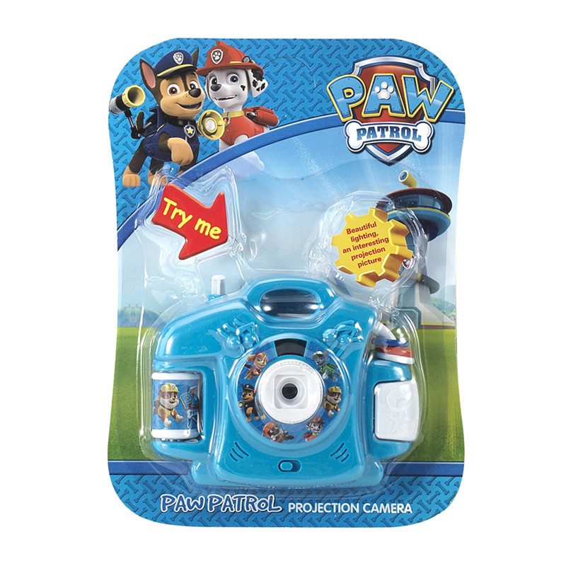 PAW PATROL 3D Projection Camera Anime Figures Cartoon 8 Patterns Children's Toys Camera Child Gift For Baby Camera For Children