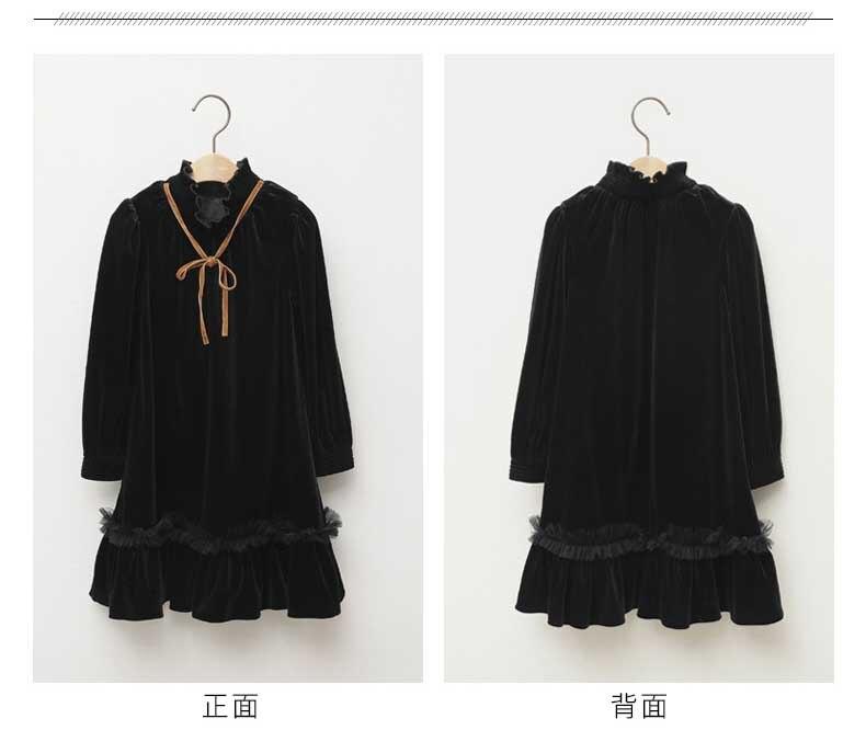 Teenage Kids Girls Winter Dress Fleece 2019 New Baby Girl Autumn Dress Black Kids Casual Dress Girl Children Top Toddler Dresses (9)