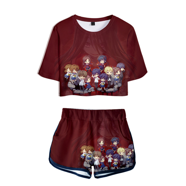 SET CORPSE PARTY BLOOD DRIVE THEMED 3D T-SHIRT + SHORT (10 VARIAN)