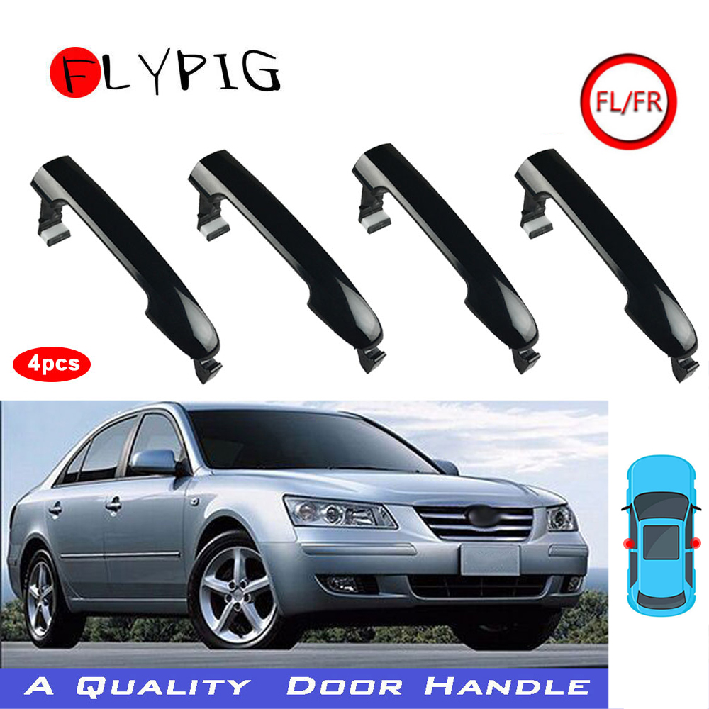 Hot Selling Set of 4 Black Outside Door Handle Front & Rear for Hyundai Sonata 2006 2007 2008 2009 2010 826513K000 image