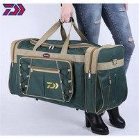 Daiwa-bolsas de pesca Oxford de gran capacidad para hombre, equipaje de mano, bolso grande para exteriores, bolsa deportiva de viaje para senderismo y pesca, impermeable, 2021