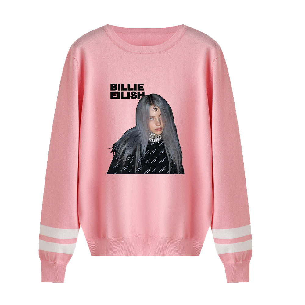 Fashion Kpop Knitting O-Neck Billie Eilish Sweaters Suitable Spring Autumn Men Women Sweaters Male Female Casual Clothing