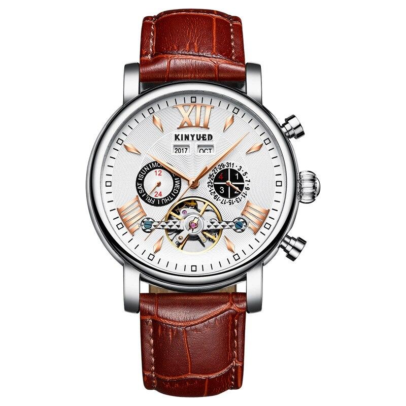 Новый стиль Модные полностью автоматические полые механические часы дермы водонепроницаемые мужские часы роскошные часы Уникальный