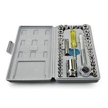 40 инструменты для индивидуальных косметических средств износостойкий мотоцикл ремонт автомобиля легко носить с собой Интегральная ковка велосипед хромированный автомобиль установлен Toolbox